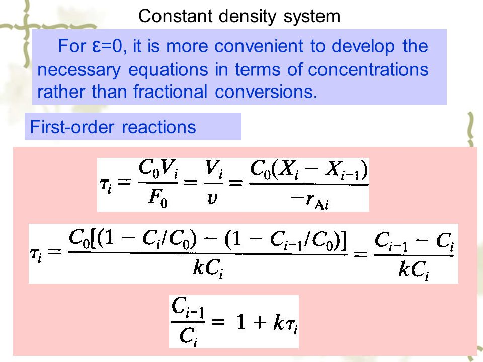 Constant density system