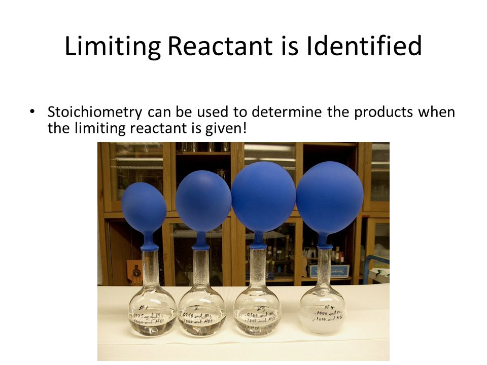 Limiting Reactant is Identified