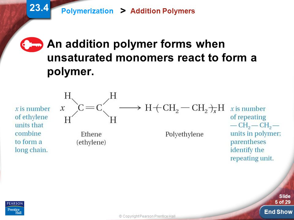 23.4 Addition Polymers.