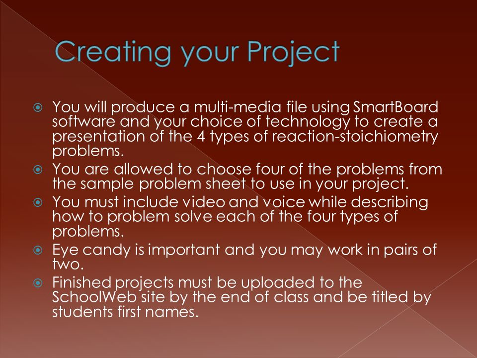 Creating your Project