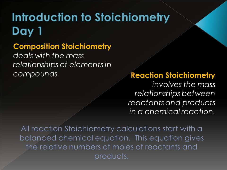 Introduction to Stoichiometry Day 1