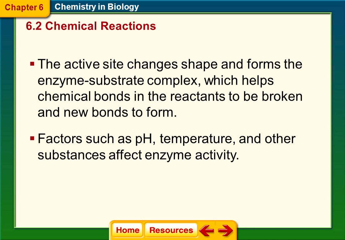 Chapter 6 Chemistry in Biology. 6.2 Chemical Reactions.