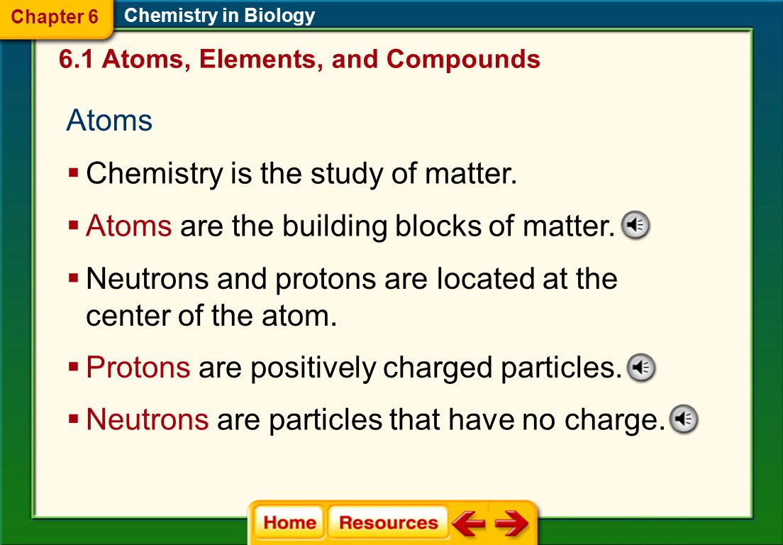 Chemistry is the study of matter.