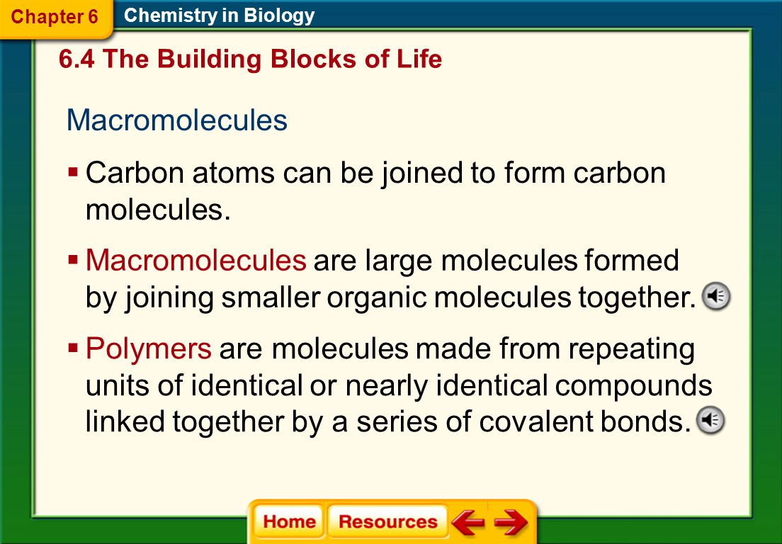 Carbon atoms can be joined to form carbon molecules.