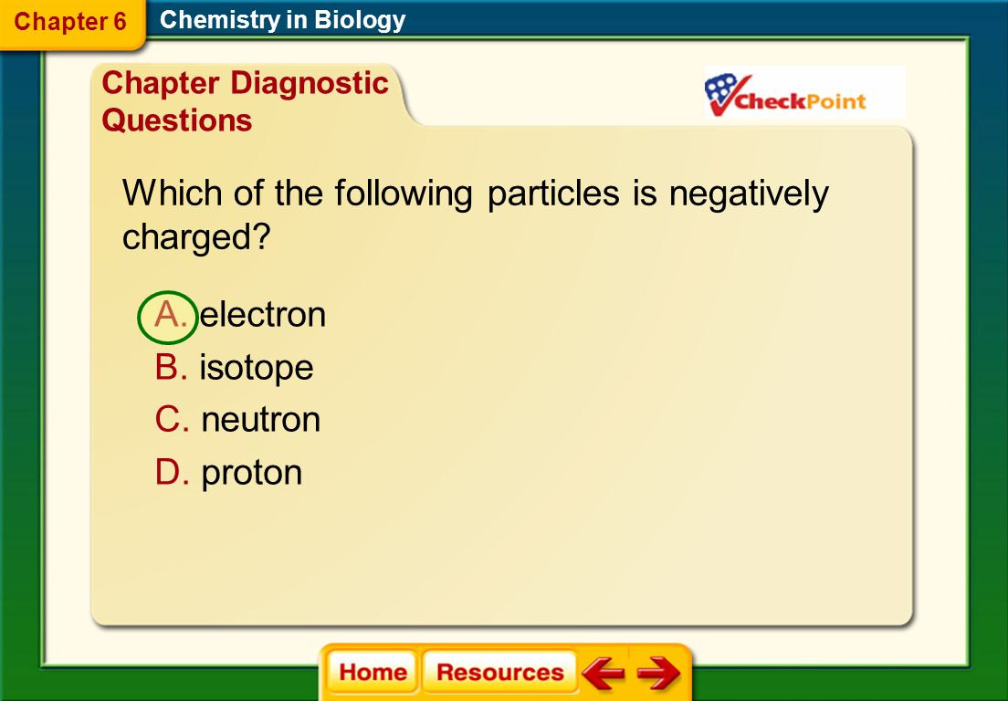 Which of the following particles is negatively charged