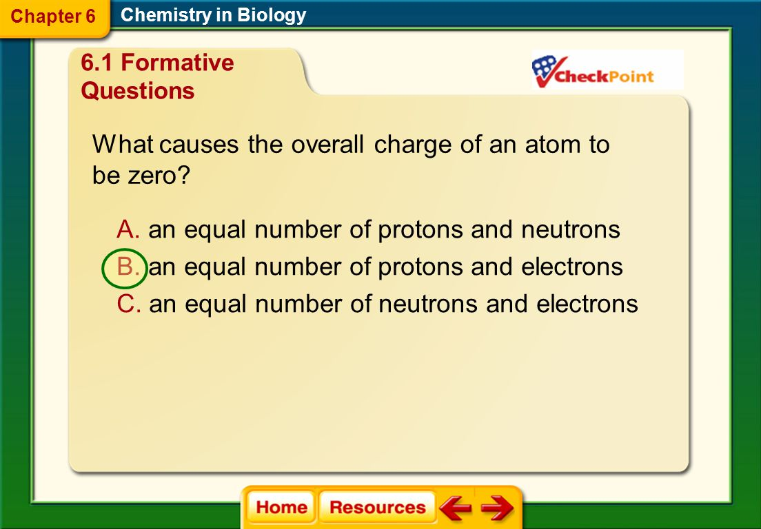What causes the overall charge of an atom to be zero