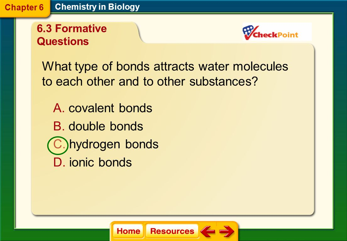What type of bonds attracts water molecules
