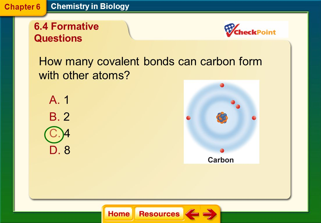 How many covalent bonds can carbon form with other atoms