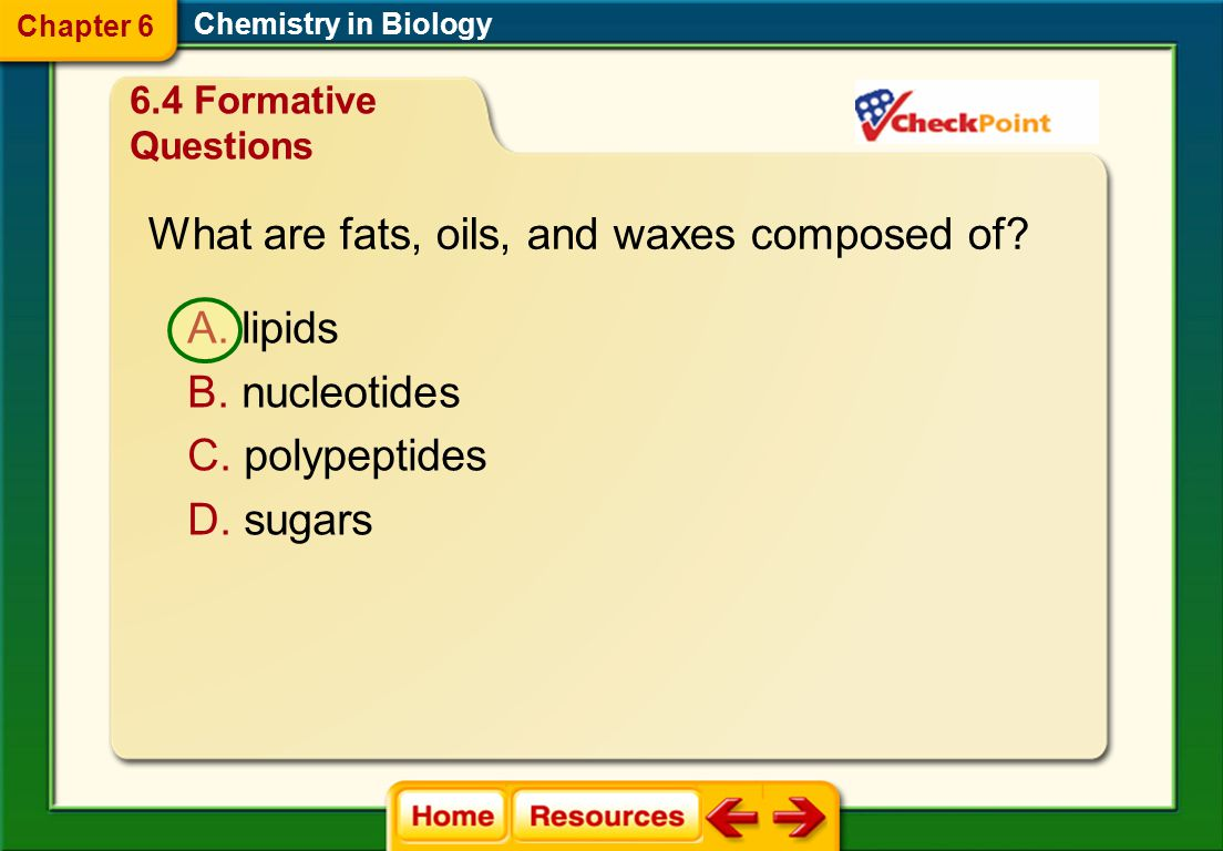What are fats, oils, and waxes composed of