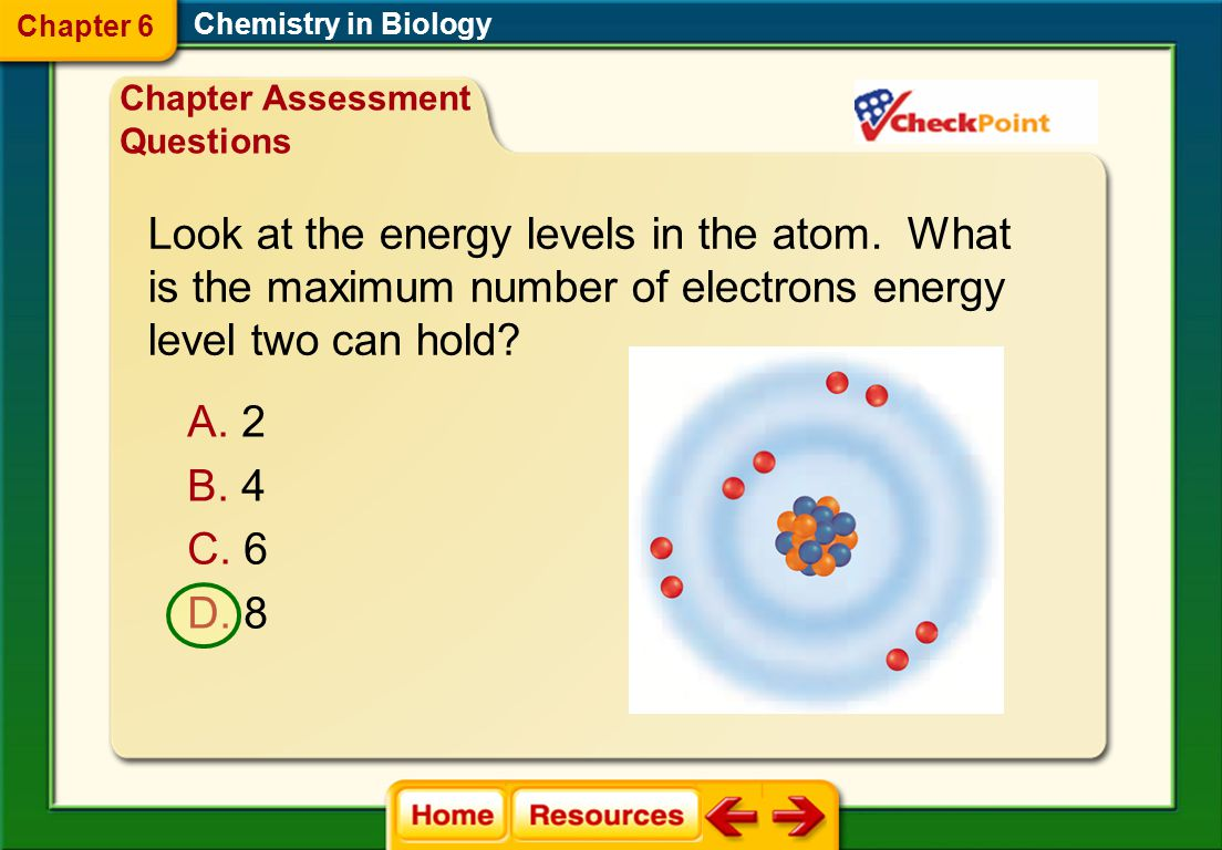 Look at the energy levels in the atom. What