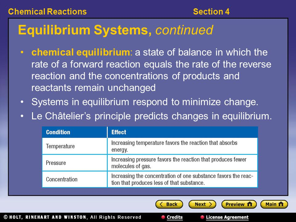 Equilibrium Systems, continued