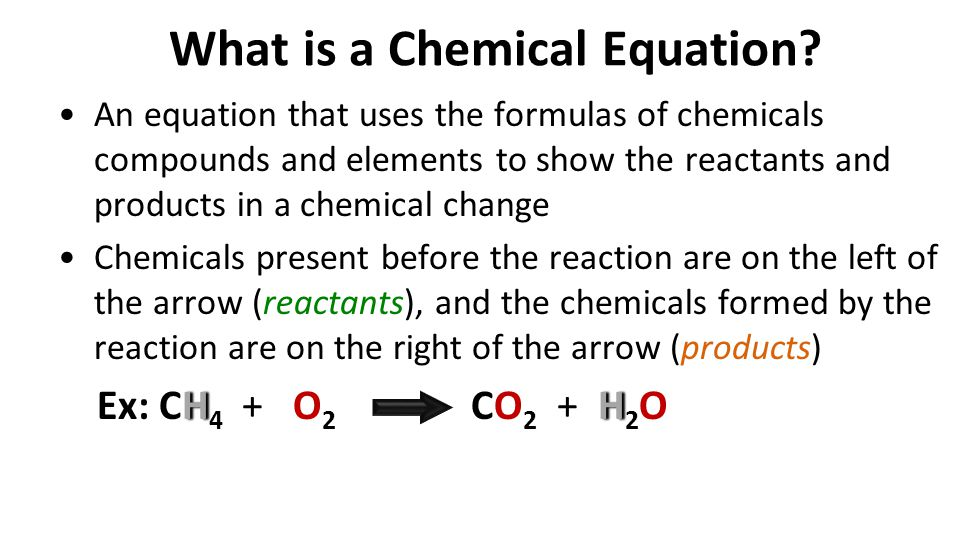 What is a Chemical Equation