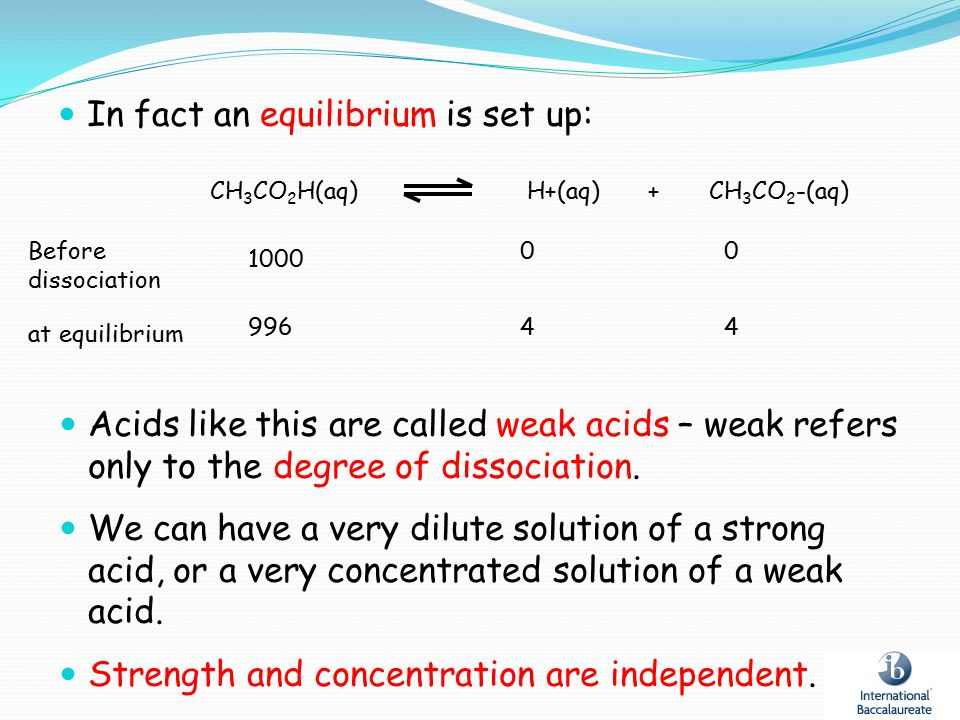 In fact an equilibrium is set up: