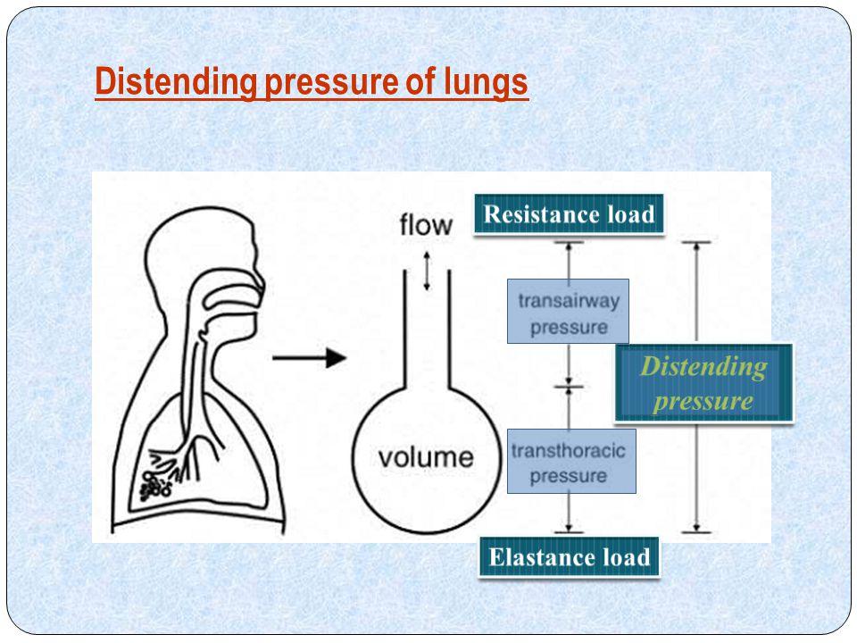 Distending pressure of lungs