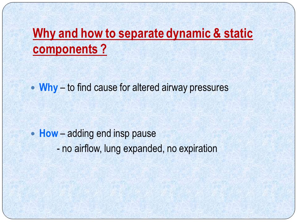 Why and how to separate dynamic & static components