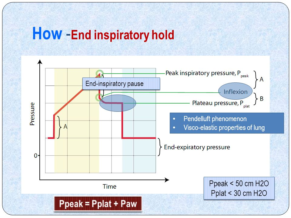 How -End inspiratory hold