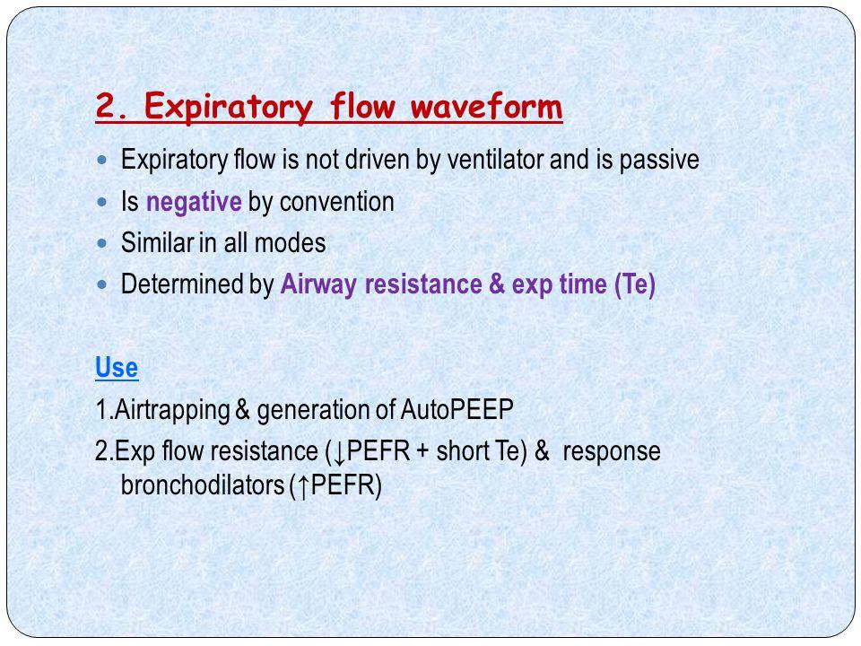2. Expiratory flow waveform