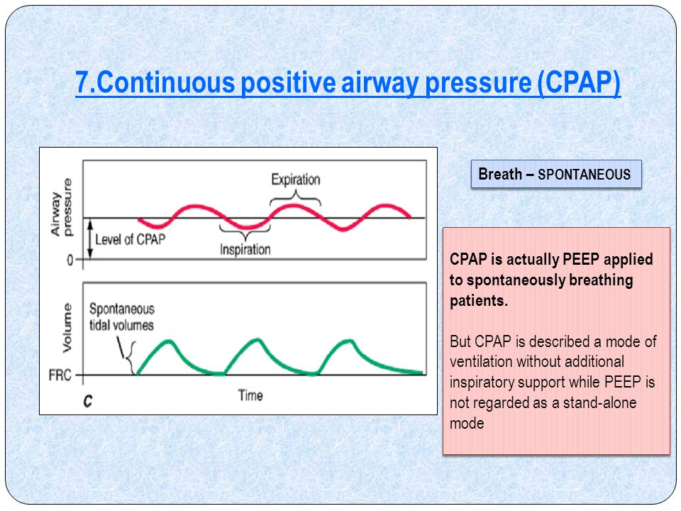 7.Continuous positive airway pressure (CPAP)