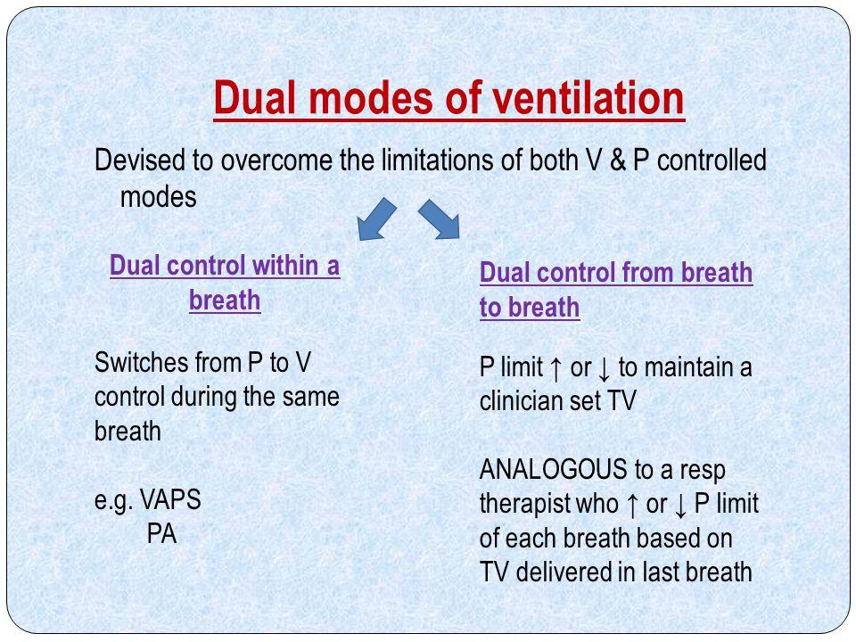 Dual modes of ventilation