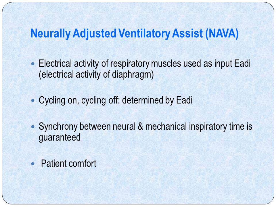 Neurally Adjusted Ventilatory Assist (NAVA)