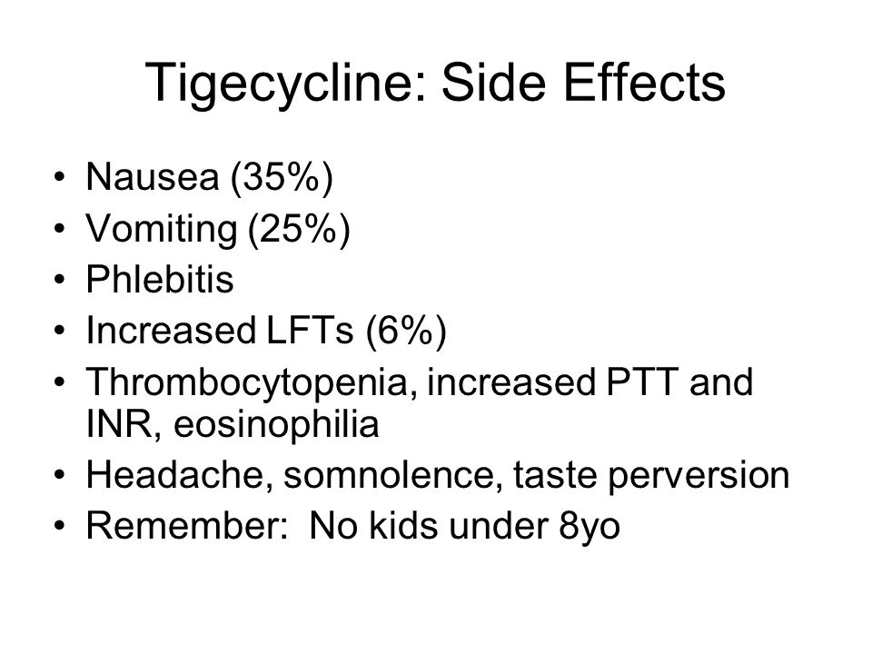 Tigecycline: Side Effects