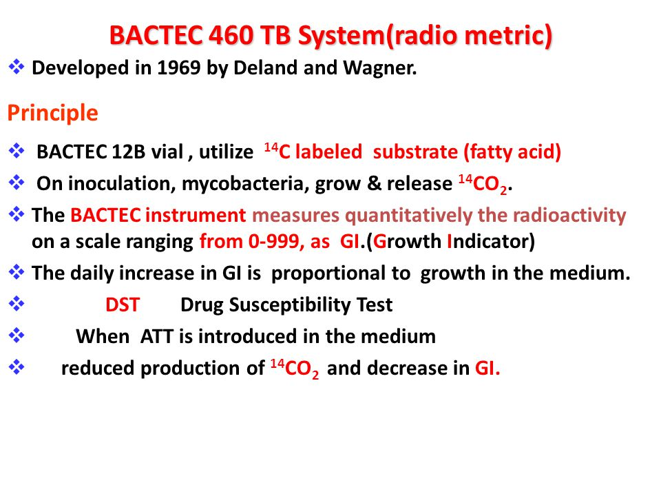 BACTEC 460 TB System(radio metric)
