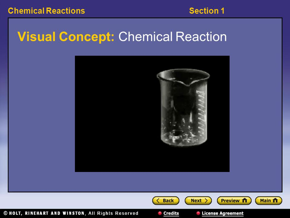 Visual Concept: Chemical Reaction