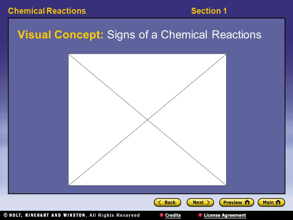 Visual Concept: Signs of a Chemical Reactions