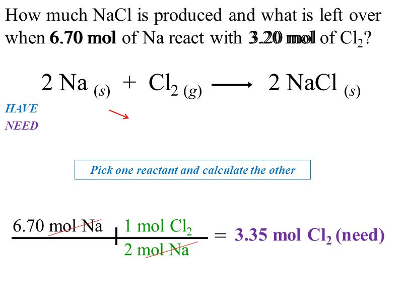 Pick one reactant and calculate the other