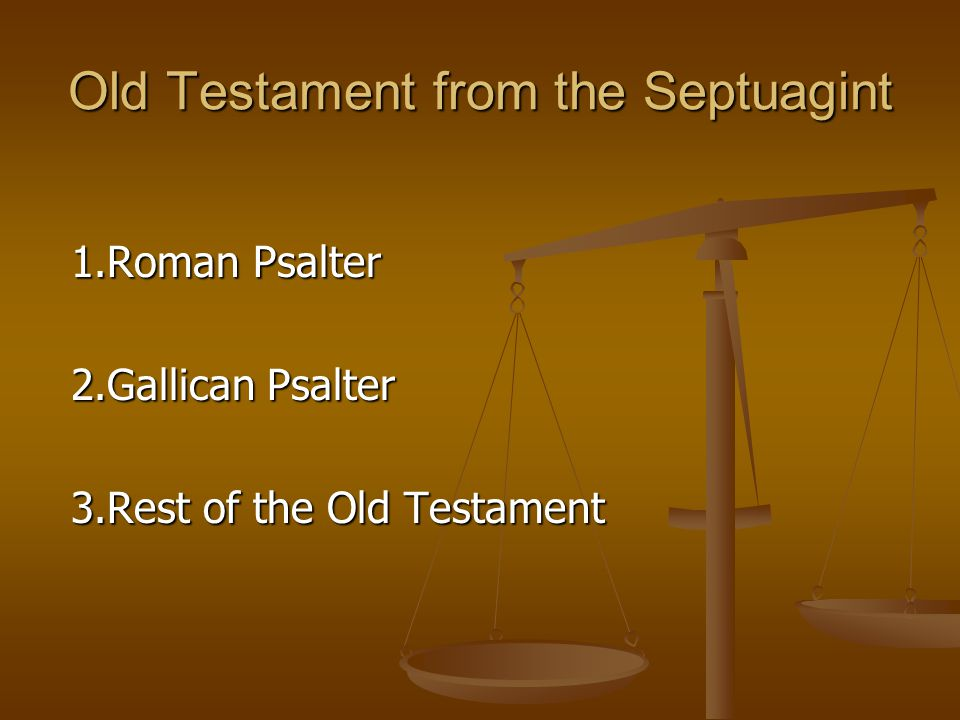 Old Testament from the Septuagint