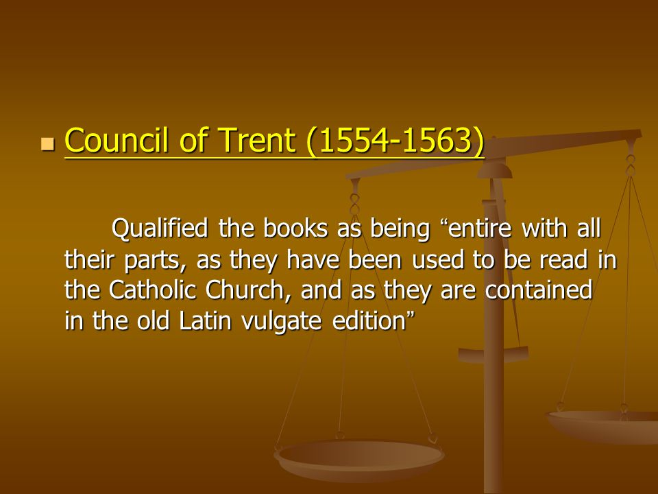 Council of Trent (1554-1563)