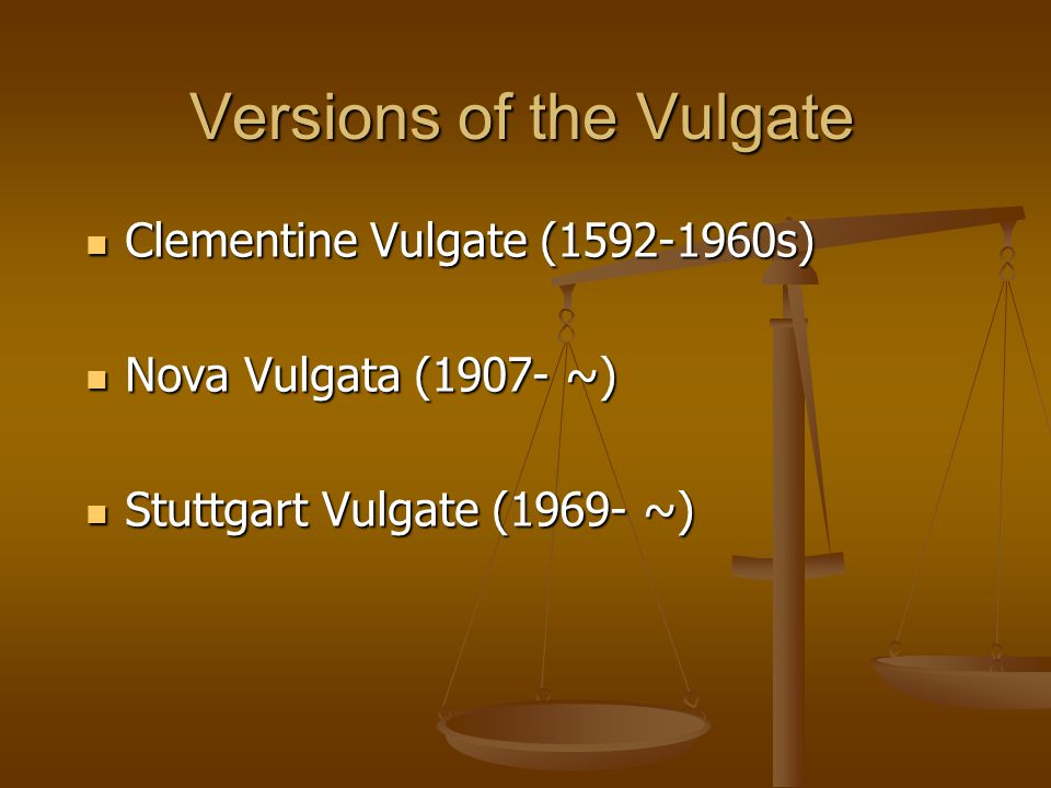 Versions of the Vulgate