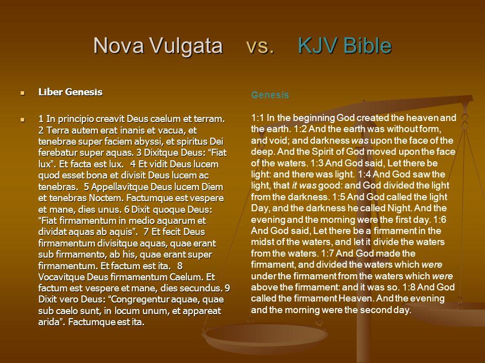 Nova Vulgata vs. KJV Bible