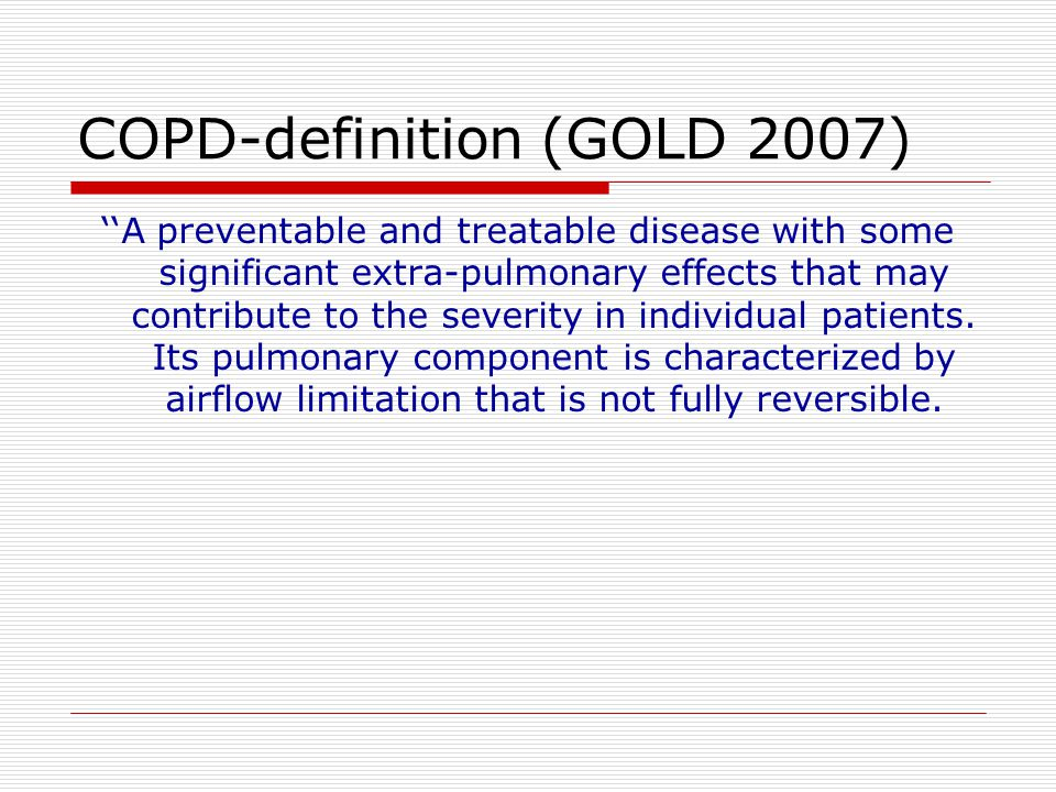 COPD-definition (GOLD 2007)