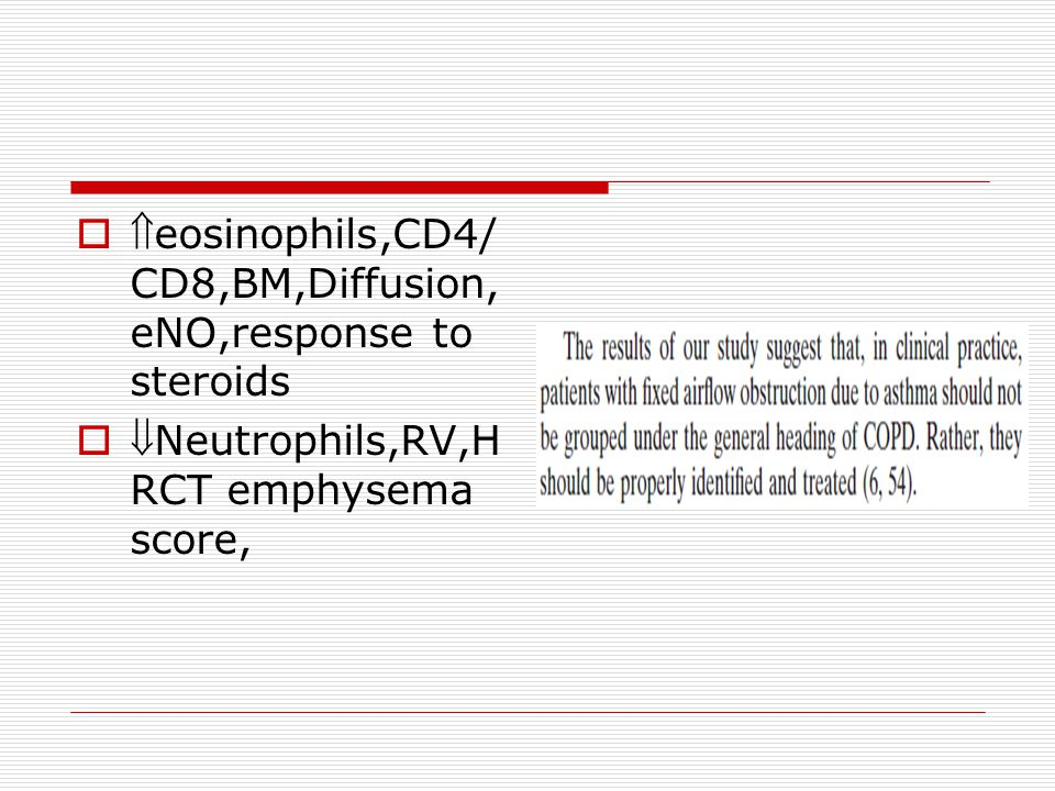 eosinophils,CD4/CD8,BM,Diffusion,eNO,response to steroids