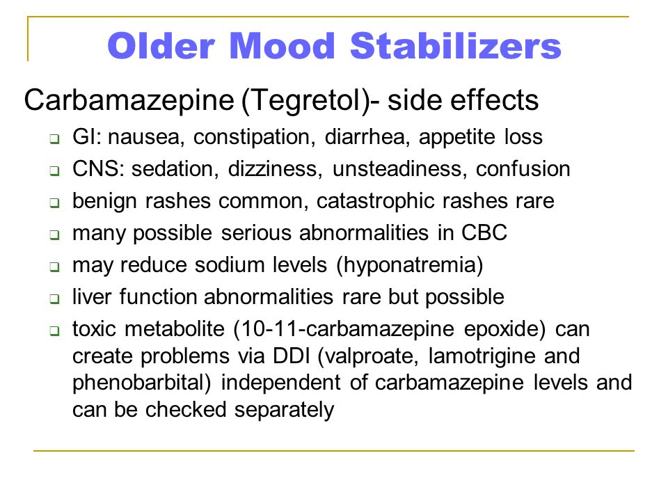 Older Mood Stabilizers