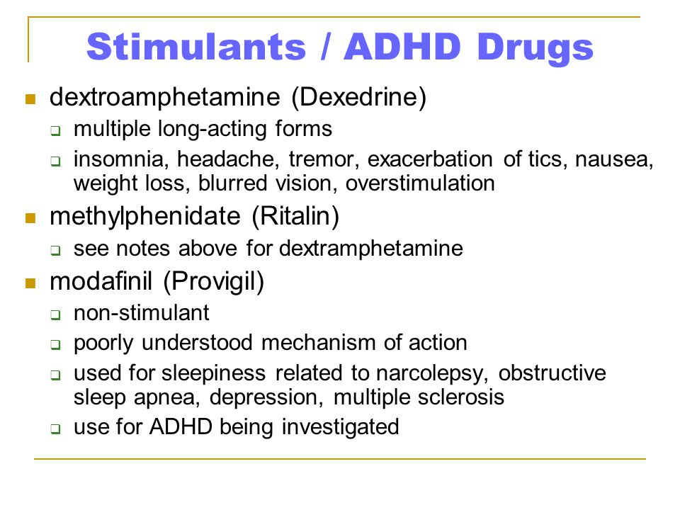 Stimulants / ADHD Drugs