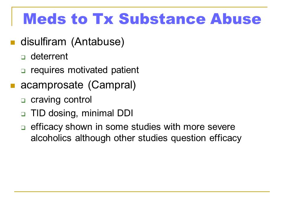 Meds to Tx Substance Abuse