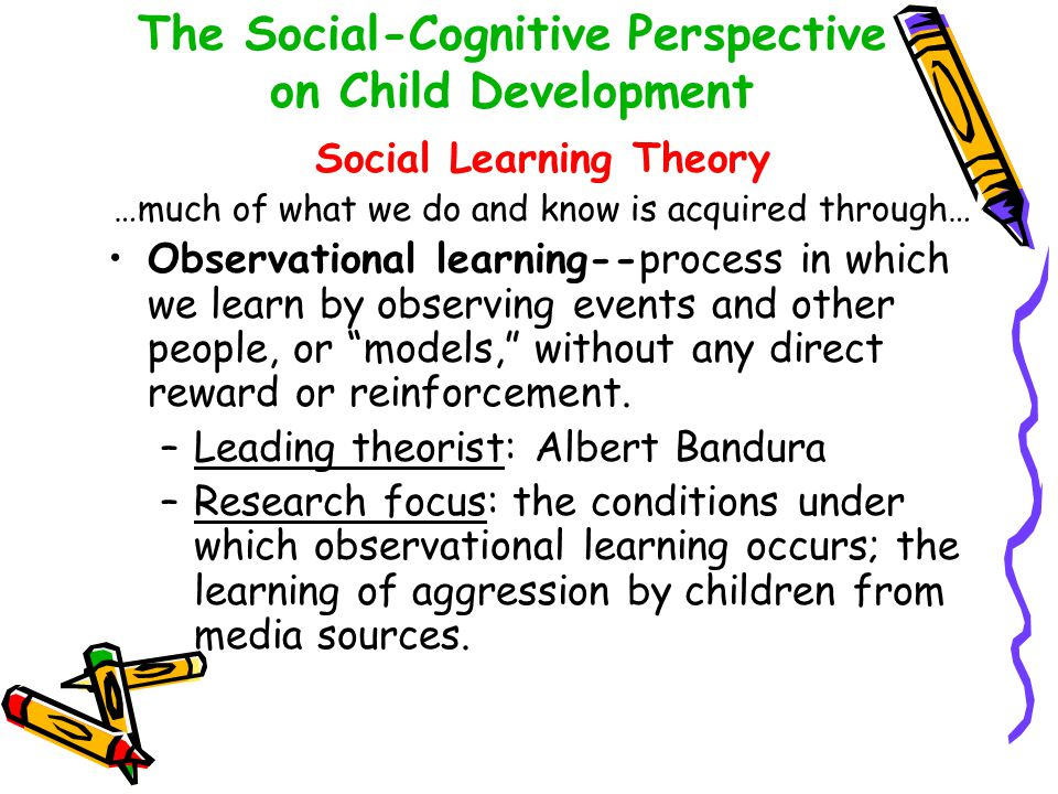 The Social-Cognitive Perspective on Child Development
