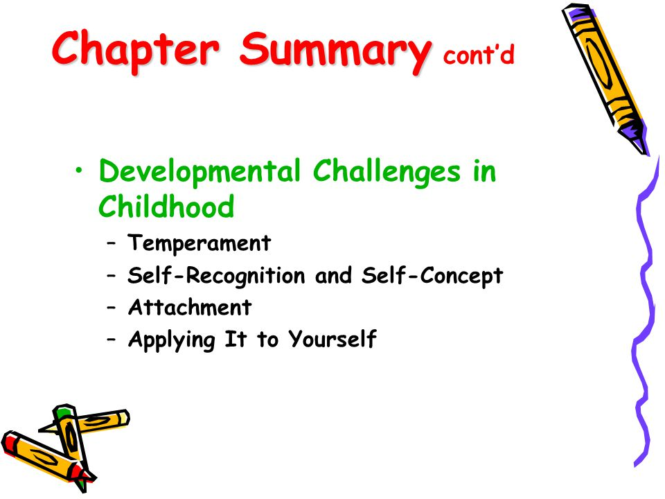 Chapter Summary cont'd
