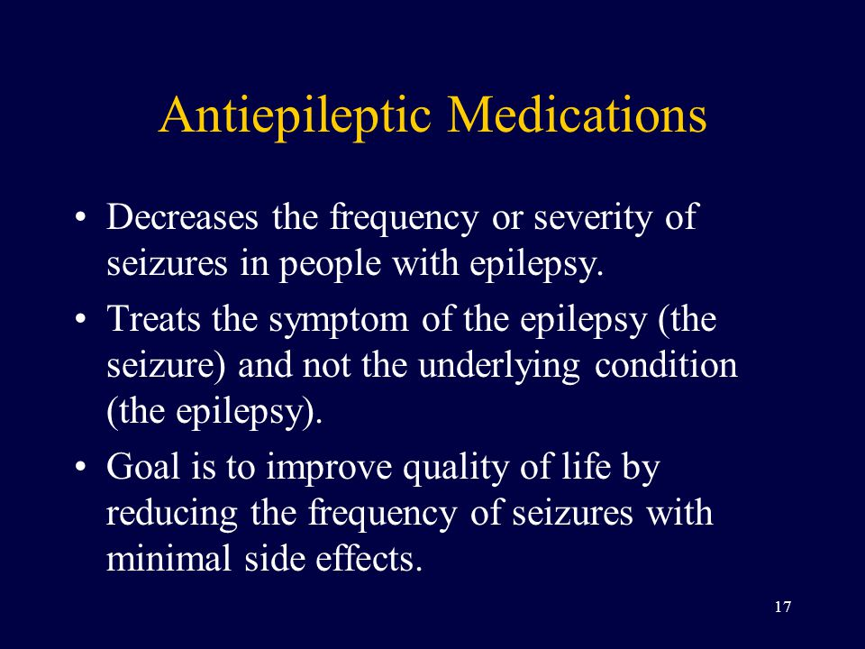 Antiepileptic Medications