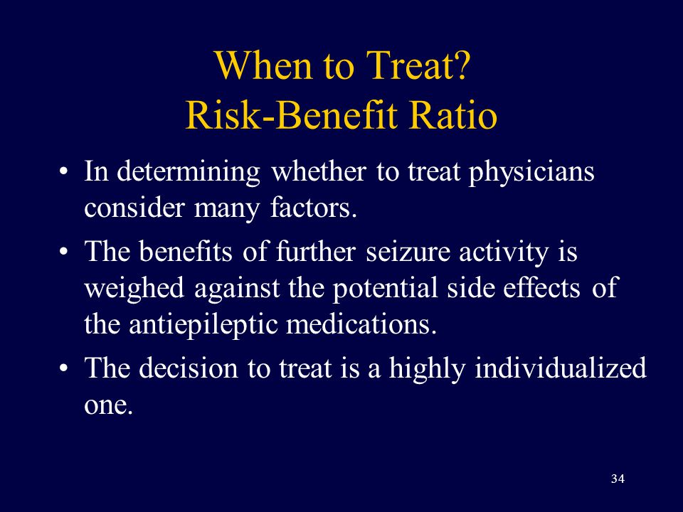 When to Treat Risk-Benefit Ratio
