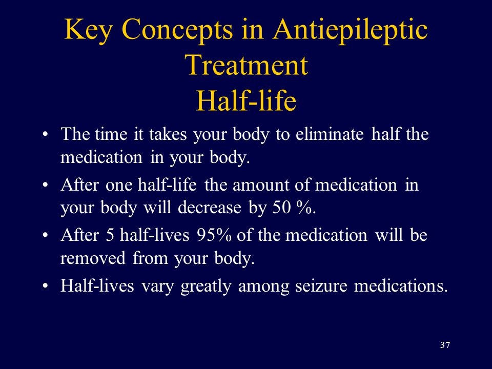 Key Concepts in Antiepileptic Treatment Half-life