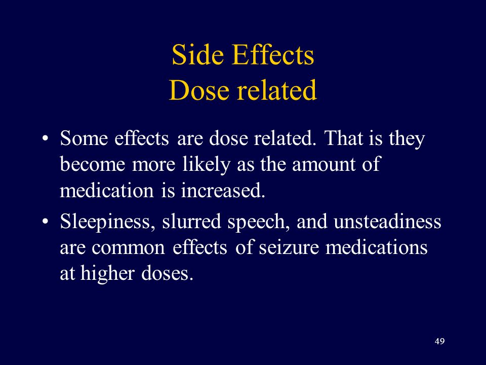 Side Effects Dose related