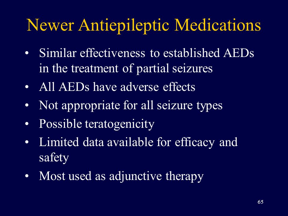 Newer Antiepileptic Medications
