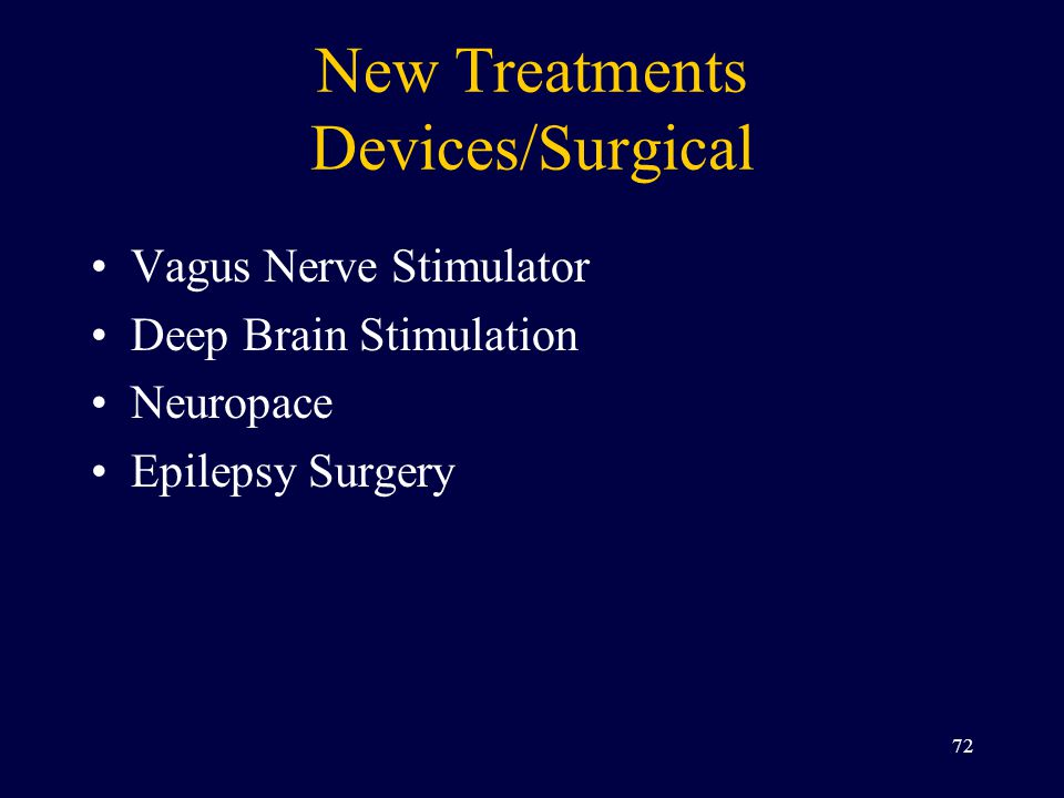 New Treatments Devices/Surgical