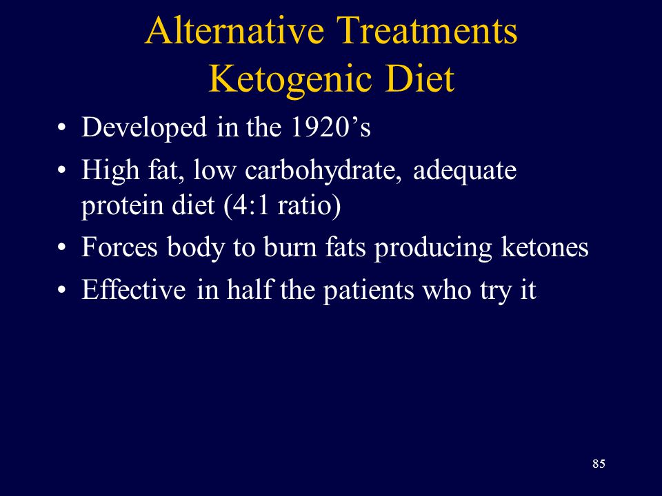Alternative Treatments Ketogenic Diet