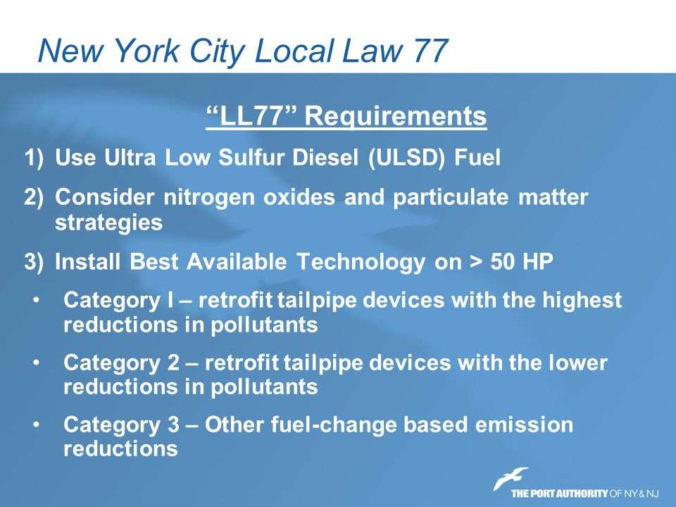 New York City Local Law 77 LL77 Requirements