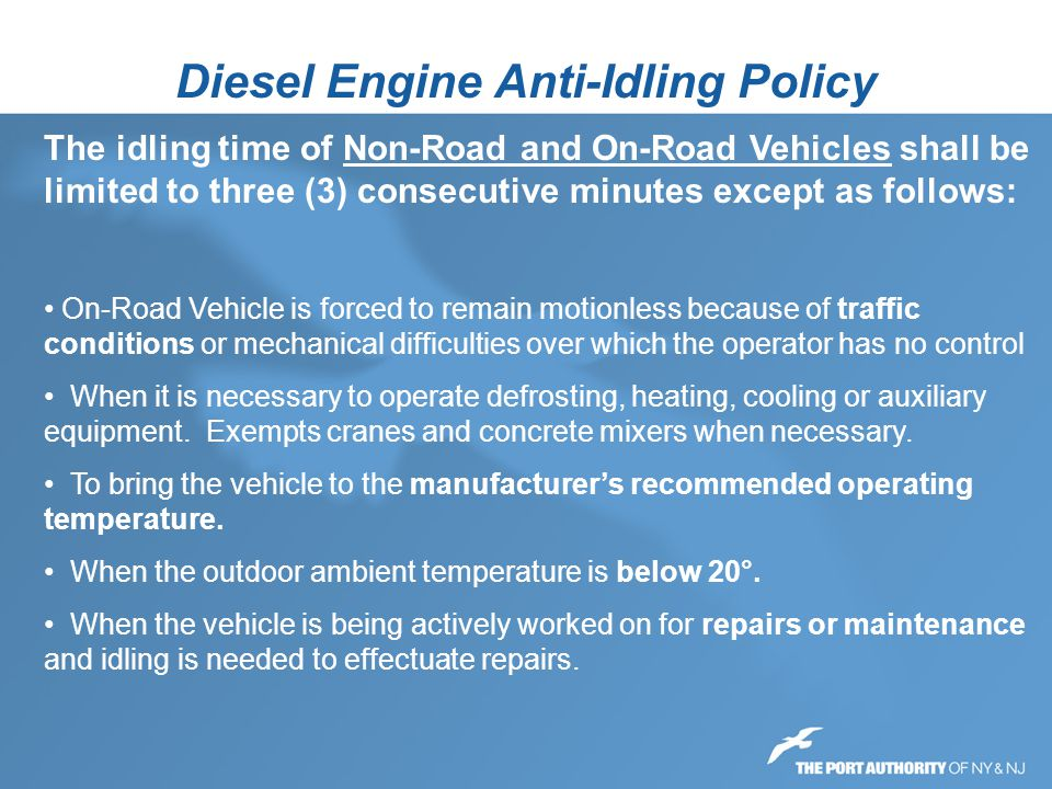 Diesel Engine Anti-Idling Policy