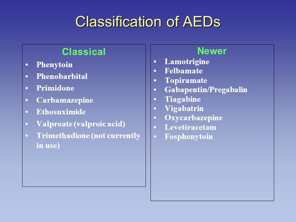 Classification of AEDs